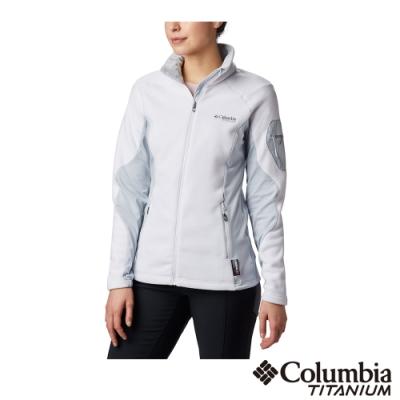 Columbia 哥倫比亞 女款- 鈦 Polartec 200 刷毛外套-白色