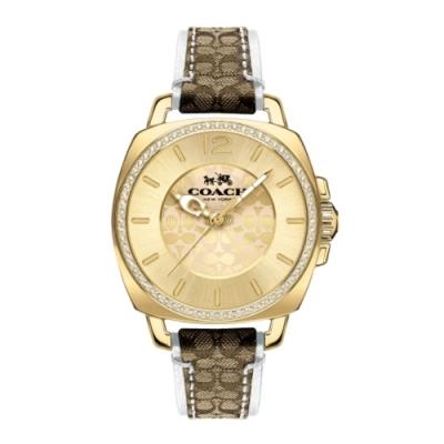 COACH 花漾質感時尚腕錶/白14502508