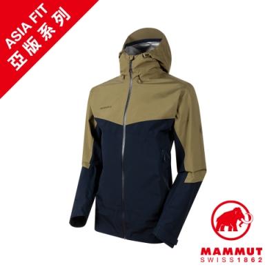 【Mammut 長毛象】Convey Tour HS GTX AF 防水連帽外套 橄欖綠/海洋藍 男款 #1010-28450