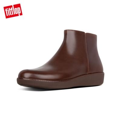 FitFlop ZIGGY ZIP 經典拉鍊款踝靴 巧克力棕