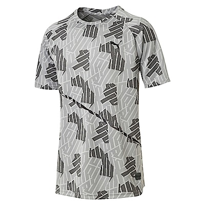 PUMA-男性訓練系列BND Tech短袖T恤-石頭灰-歐規
