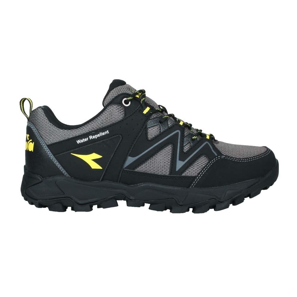 DIADORA 男戶外野趣登山鞋-防水 越野 運動 DA71189 黑灰黃