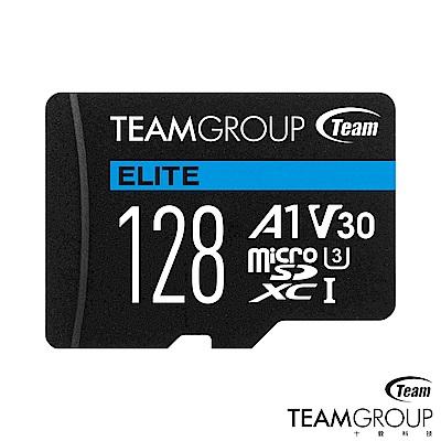 TEAM十銓UHS-I U3 ELITE A1 MicroSDXC 128G記憶卡(附轉卡
