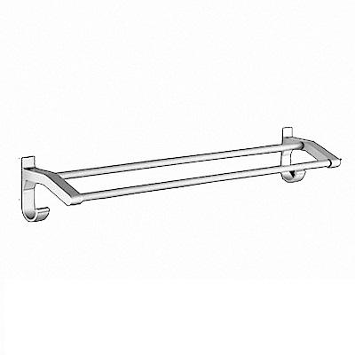 AA085-100cm 加厚雙桿 免打孔無痕太空鋁毛巾架/毛巾桿