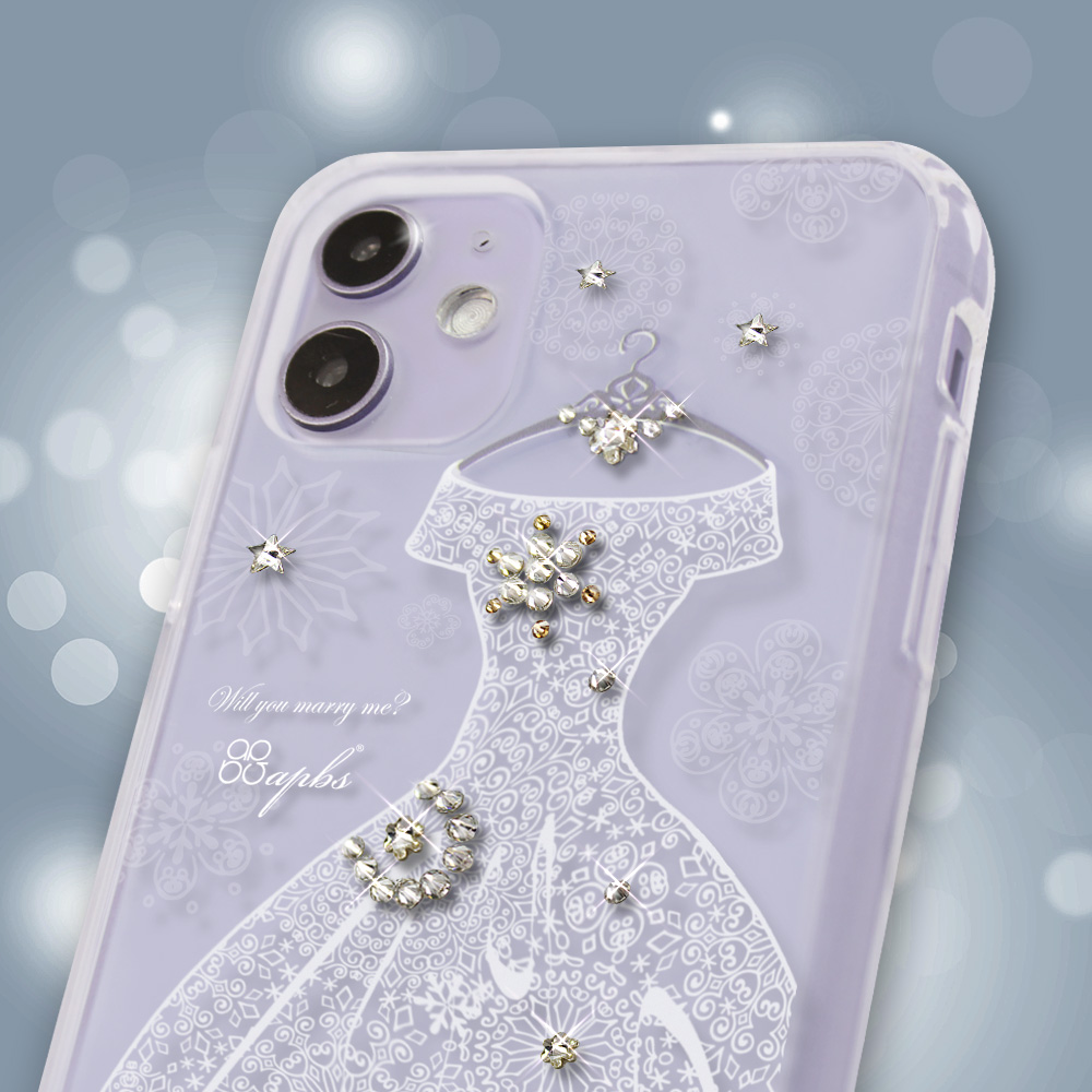 apbs iPhone全系列施華彩鑽防震雙料手機殼-禮服奢華版 product image 1