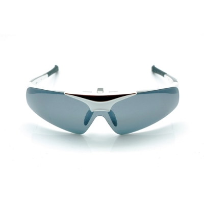 台灣製造PHOTOPLY可掀式大聯盟太陽眼鏡用備片(時尚白鏡框+POLARIZER寶麗萊偏光鏡片)