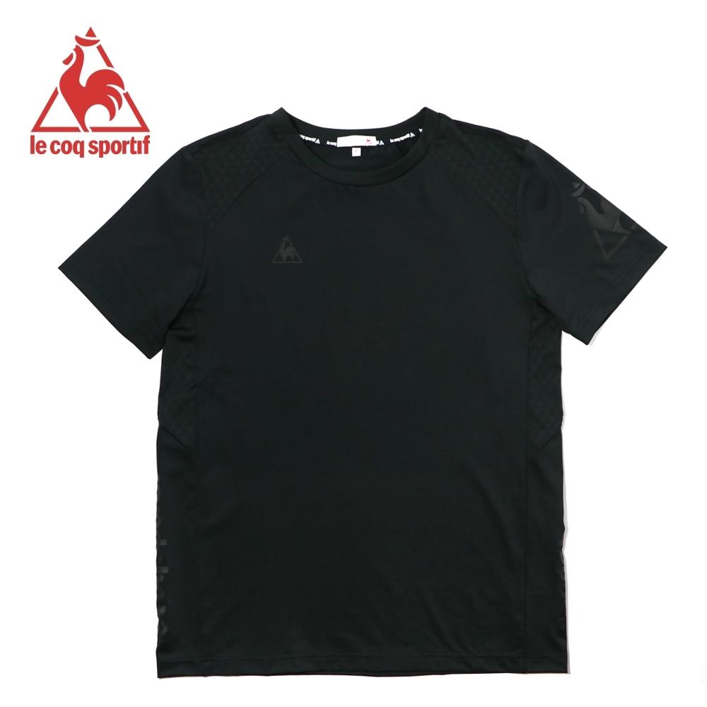 le coq sportif 法國公雞牌基礎透氣吸濕排汗短袖T恤 男-黑