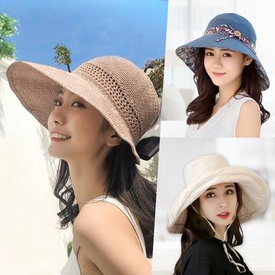 [時時樂限定]幸福揚邑百搭經典夏女款遮陽帽-3款可選