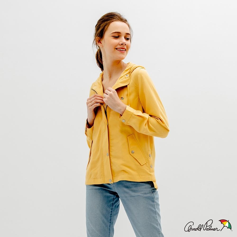 Arnold Palmer -女裝-粉彩色天絲連帽外套-黃色