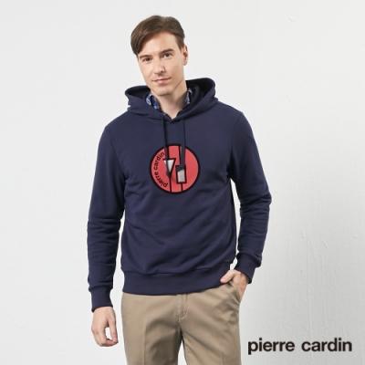 Pierre Cardin皮爾卡登 男裝休閒連帽上衣/帽T-深藍色 灰色(9205201-38.95)