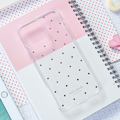 【kate spade】iPhone 13 mini 5.4吋 手機保護殼-粉鑽