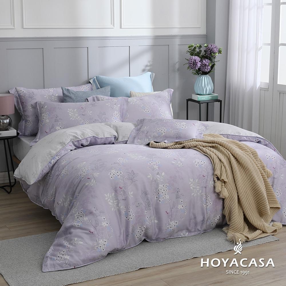 【HOYACASA 】100%天絲枕套床包三件組-多款任選(雙人) (浪漫情愫)
