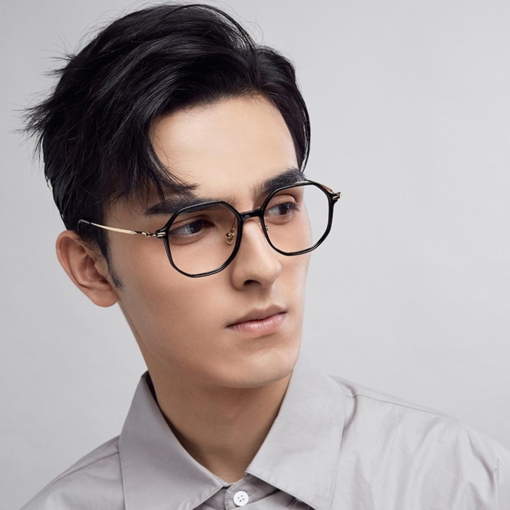 MOLSION 光學眼鏡 多角造型款 /黑-金 #MJ5039 B10