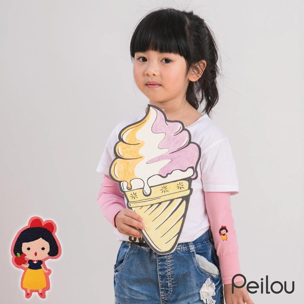 貝柔兒童高效涼感防蚊抗UV袖套-白雪公主(新款刺繡)