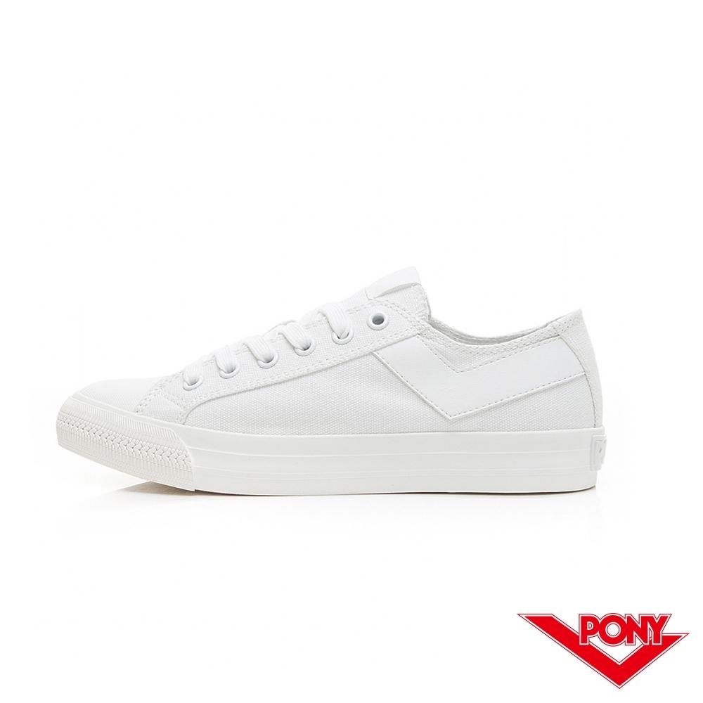 【PONY】Shooter系列百搭復古經典帆布鞋 情侶鞋 小白鞋 女鞋 白色 陳零九著用款