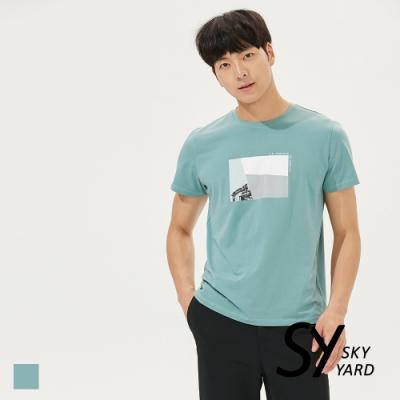 【SKY YARD 天空花園】插圖印花造型圓領T恤-綠色