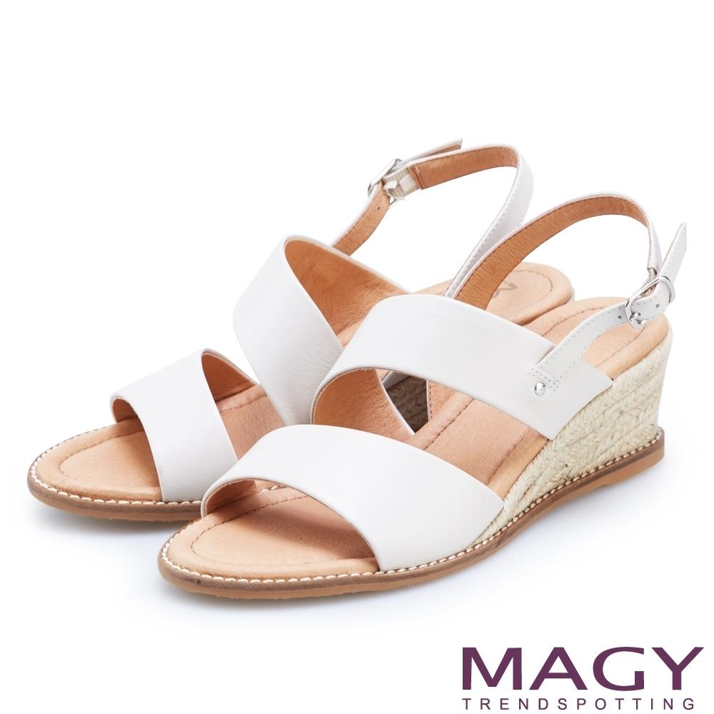 [今日限定] MAGY熱銷平底鞋均價1180 (H.寬版麻編楔型涼鞋-白)