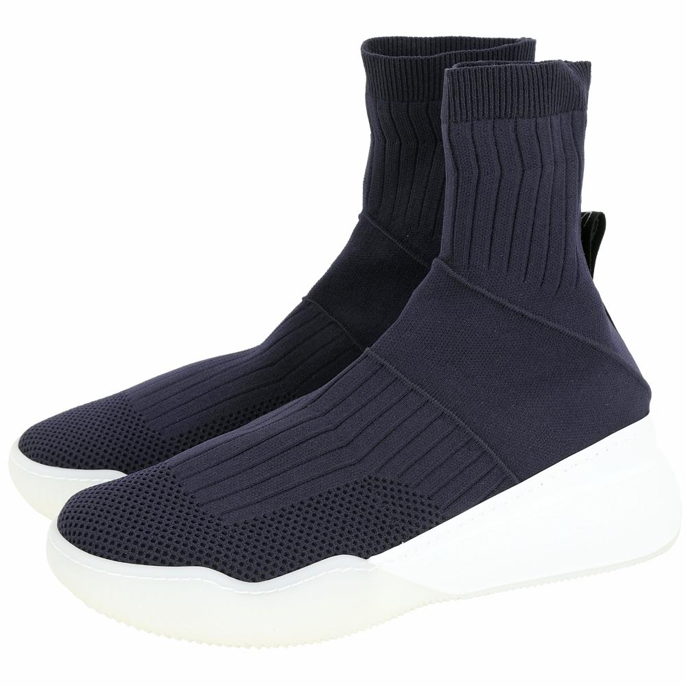 Stella McCartney Loop 彈性針織面料襪套運動鞋(女款/深藍色)