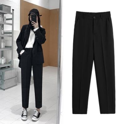 【韓國K.W.】(預購)美型英倫風典雅西裝褲-1色