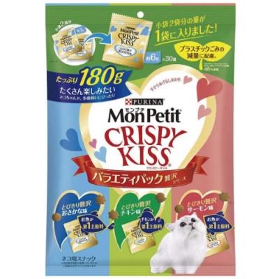 MonPetit CRISPY KISS 貓倍麗 量販包 親親餅乾 貓咪潔牙零食 6gx30入