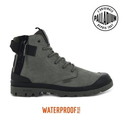 PALLADIUM PAMPA EVO LTH LITE+ WP+輕量皮革拉鍊防水靴-男-鐵灰