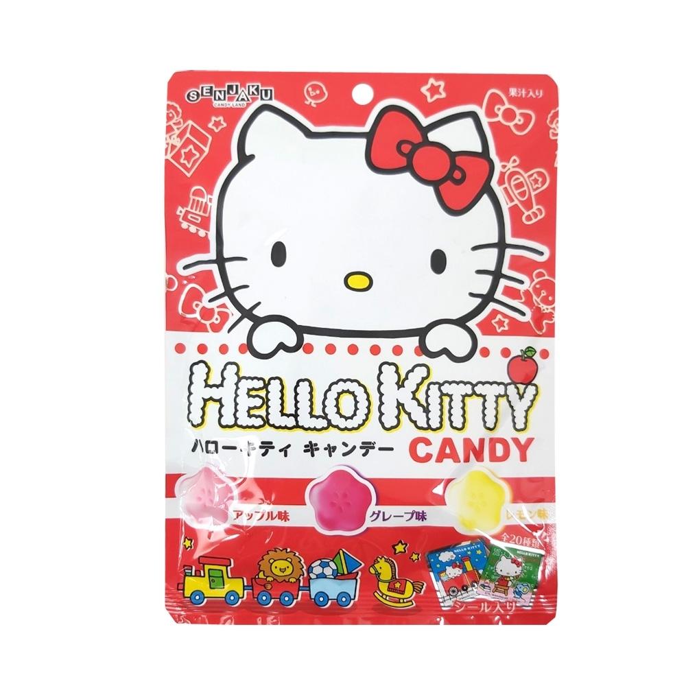 扇雀飴 凱蒂貓三種果汁糖(40g)-附貼紙