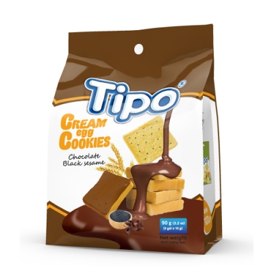TIPO 雞蛋吐司餅-芝麻巧克力風味(90g)