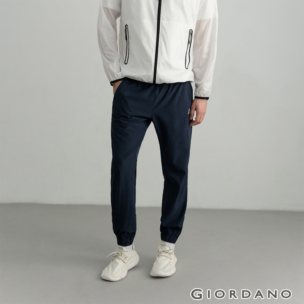 GIORDANO 男裝3M運動透氣束口褲 - 05 深花藍
