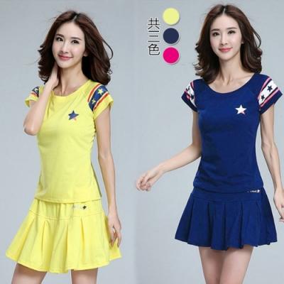 【韓國K.W.】(預購) 休閒運動時尚清涼套裝裙