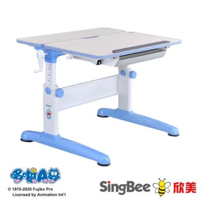 【SingBee欣美】Doraemon 手搖雙板桌-兒童成長/台灣製/升降/學生/開學
