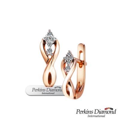 PERKINS 伯金仕 - infinity玫瑰金系列 鑽石耳環
