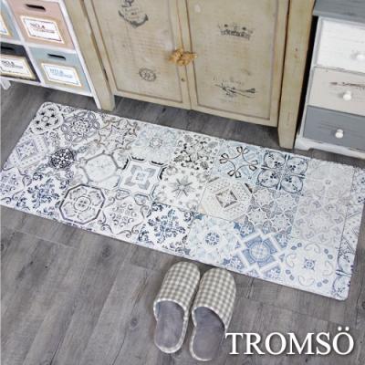 TROMSO 廚房防油皮革地墊-K312復古花磚