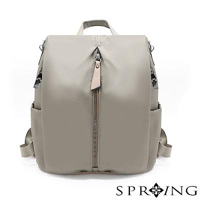 SPRING-偶然相遇的輕量防盜多用後背包-卡其灰