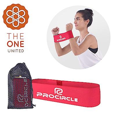 【The One】瑜珈健身 寬版針織阻力帶/彈力帶(入門紅)35磅