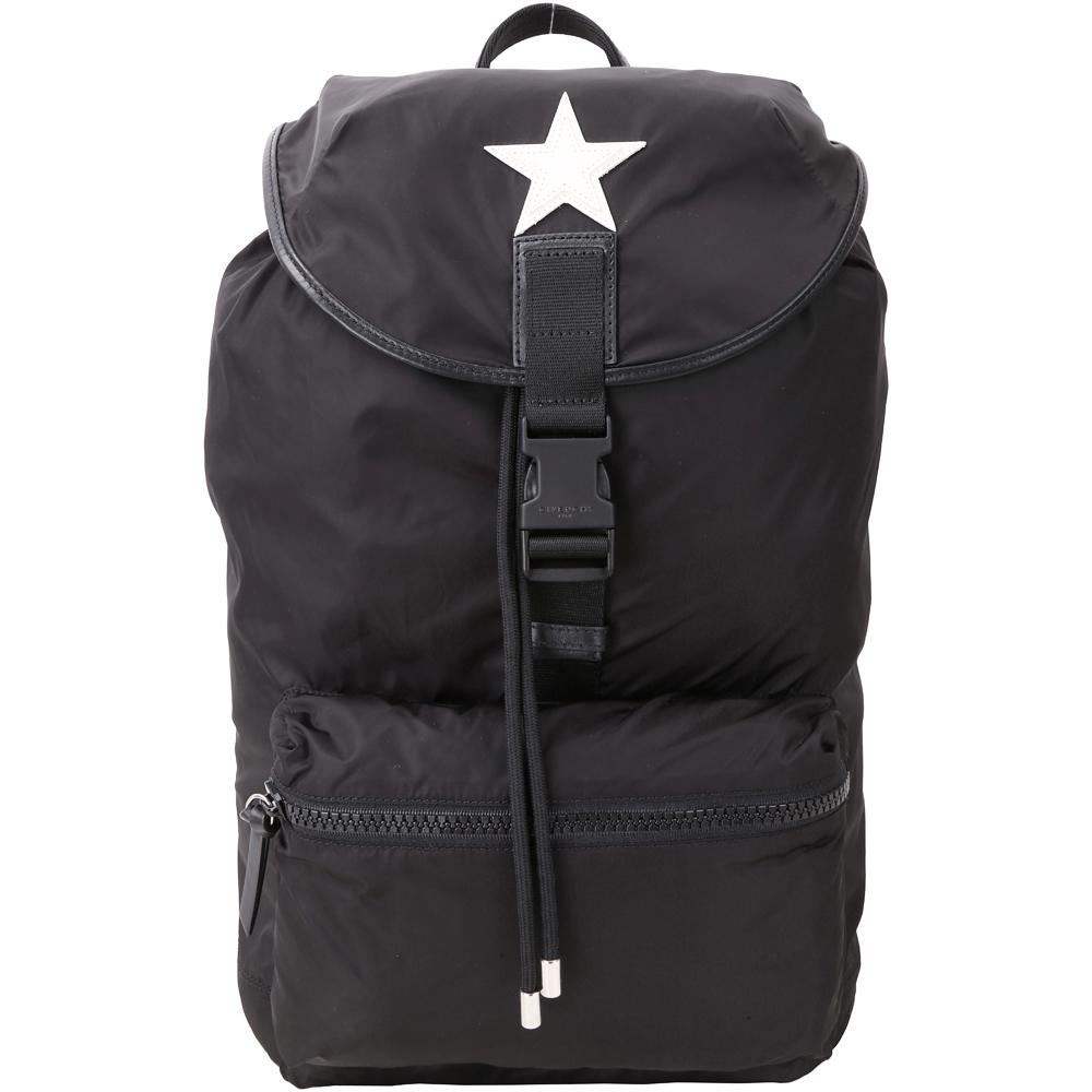 GIVENCHY Star Obsedia 星星圖騰尼龍後背包(黑色)