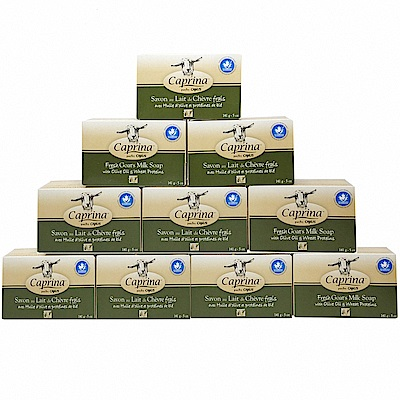 Caprina 肯拿士  新鮮山羊奶皂141g(橄欖油小麥蛋白香味10入組)