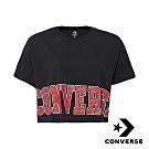 CONVERSE HERITAGE 美式復古女短版T恤 黑 10007082-A01