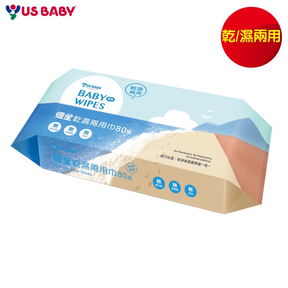 任選-【優生】清爽型乾濕兩用巾80抽1包