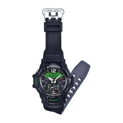 CASIO 卡西歐 G-SHOCK 飛行員太陽能藍牙手錶-綠(GR-B100-1A3)
