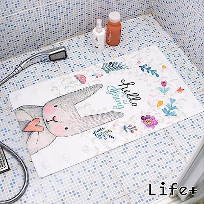 Life Plus 悠然時光浴室吸盤防滑地墊/腳踏墊 (兔子)