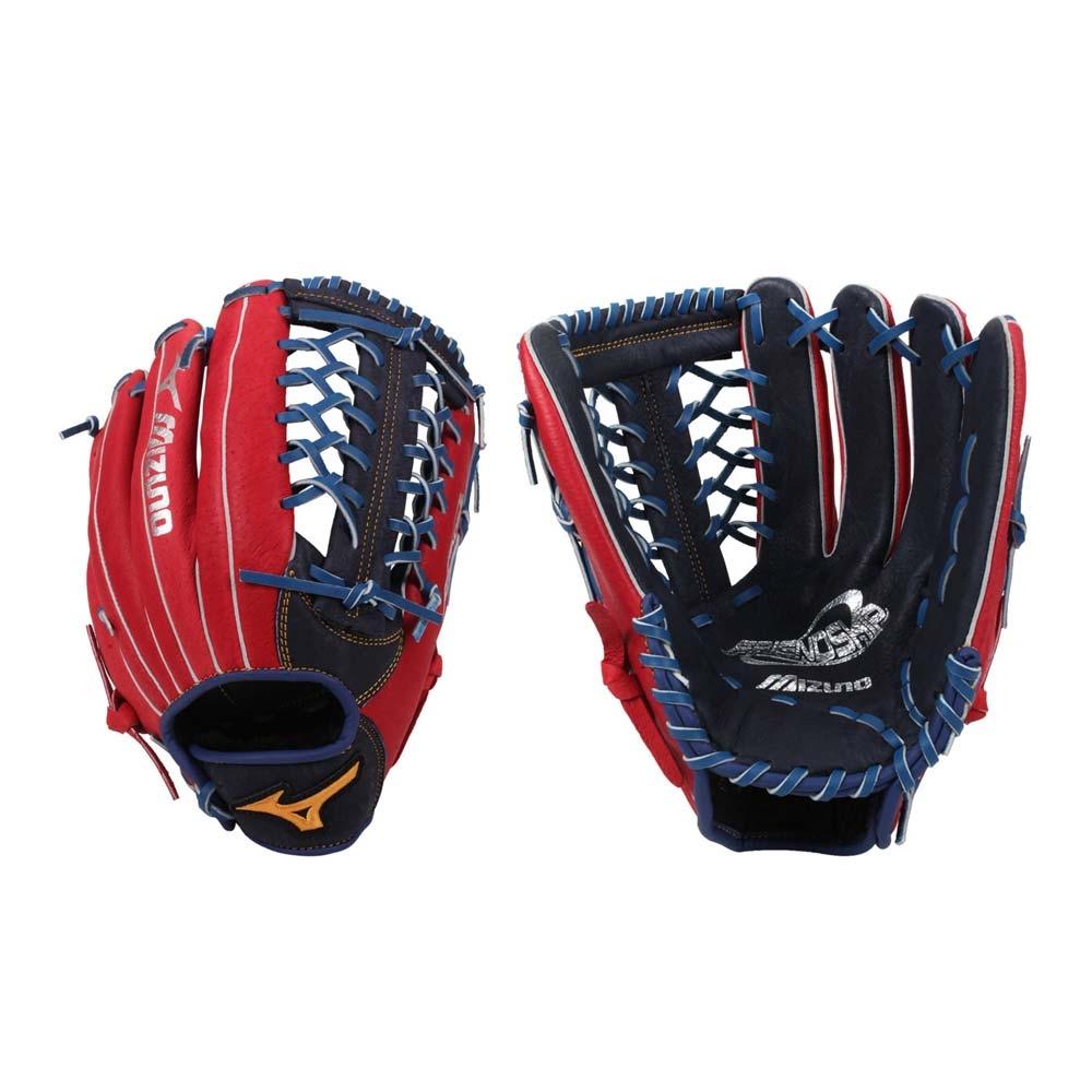 MIZUNO 壘球手套-棒壘球  右投 外野 美津濃 1ATGS21960-2962 紅丈青黃