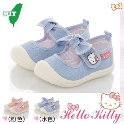 Hello Kitty童鞋 輕量減壓防滑室內外娃娃鞋-粉.水