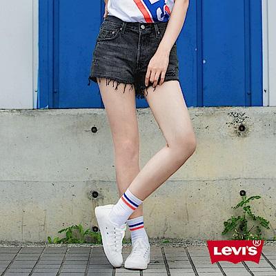 Levis 女款 501 排釦牛仔短褲 抽鬚不收邊