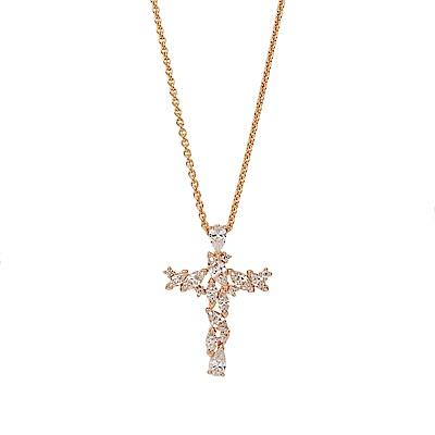SWAROVSKI 施華洛世奇 MAGDA十字造型水晶玫瑰金項鍊