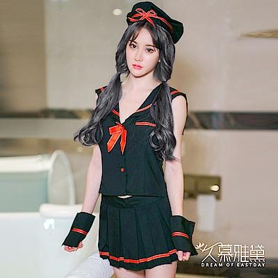 角色扮演服 水手公主4件式學生服。黑色 久慕雅黛