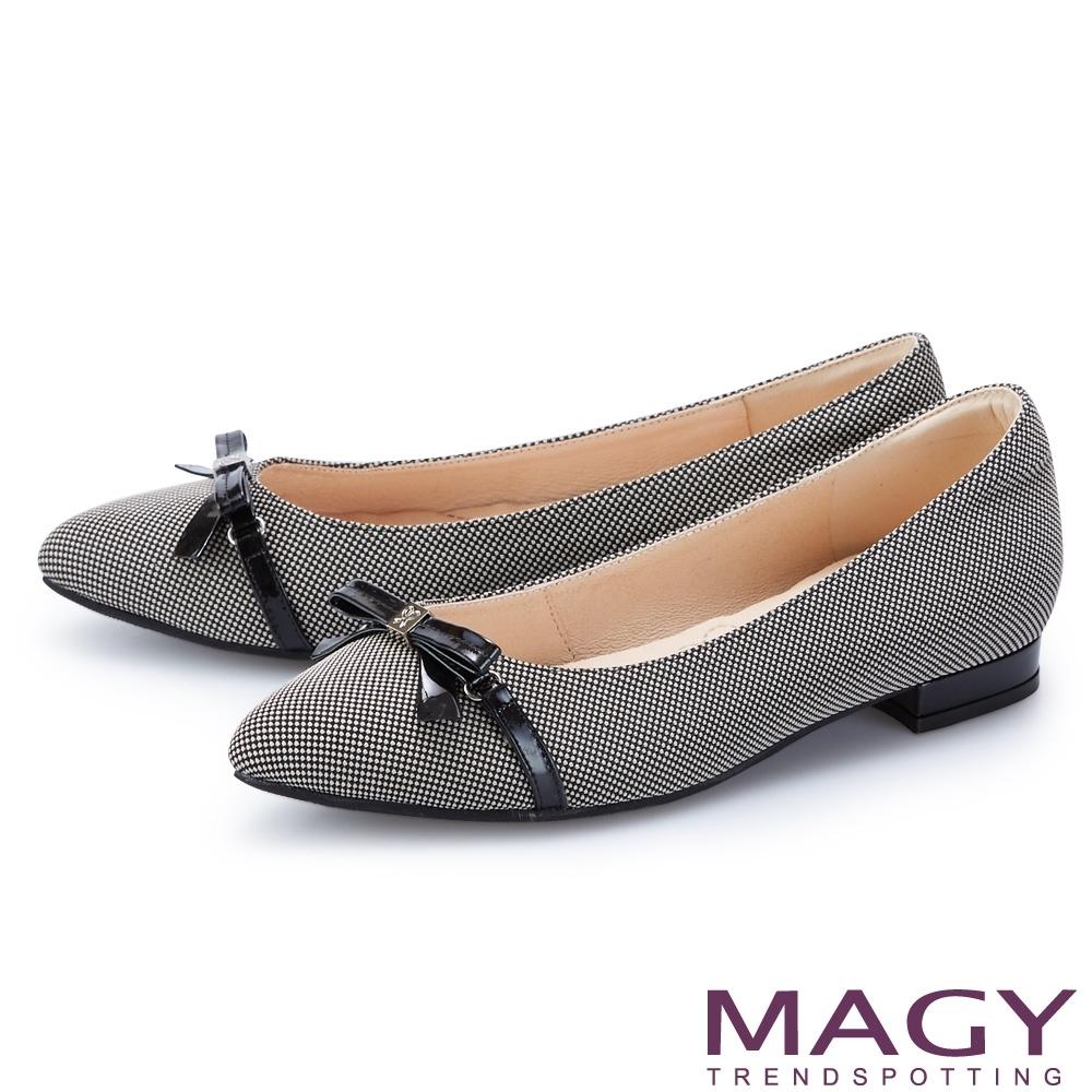 [雅虎限定] MAGY熱銷平底鞋均一價$1200 (B.細版皮革蝴蝶結尖頭-灰色)