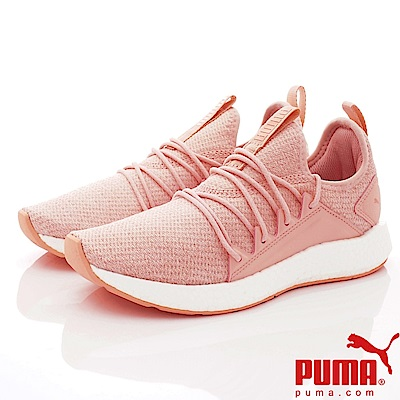 PUMA童鞋 針織時尚慢跑款 ON91747-15粉(大童段)