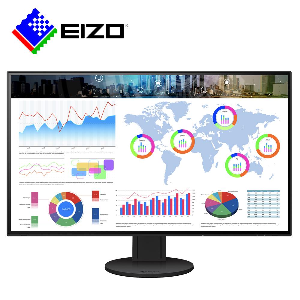 EIZO FlexScan EV3285黑色 32吋4K/Type-C/薄邊框/低藍光