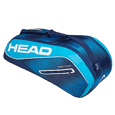 HEAD奧地利 Tour Team系列 6支裝球拍袋-海軍藍 283129