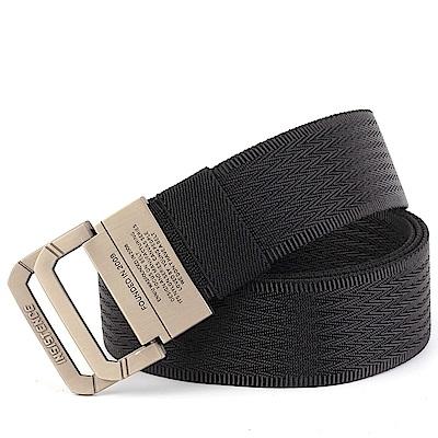 ZK2050BK合金雙環扣尼龍腰帶黑色(腰圍20吋-40吋適用)